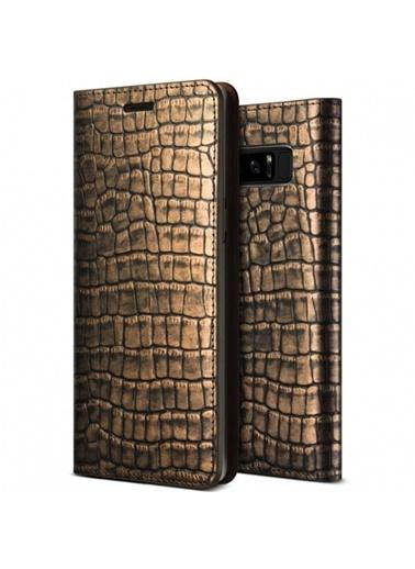 Galaxy Note 8 Genuine Croco Diary Kapaklı Kılıf-Verus